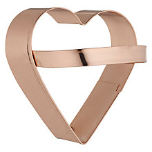 Buy Eddingtons Copper Heart Cookie Cutter Online at johnlewis.com
