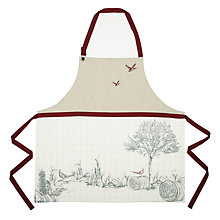 Buy John Lewis Rural Apron, Cream/Red Online at johnlewis.com
