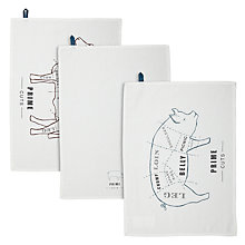 Buy John Lewis Rural Prime Cuts Tea Towels, Set of 3 Online at johnlewis.com