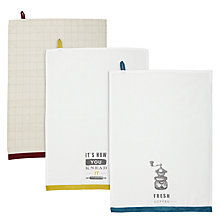 Buy John Lewis Rural Tea Towels, Set of 3 Online at johnlewis.com
