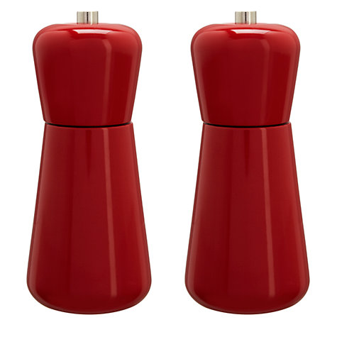 Buy House by John Lewis Wooden Salt & Pepper Set, Red Online at johnlewis.com