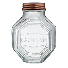 Buy John Lewis Hexagon Glass Jar, Small Online at johnlewis.com