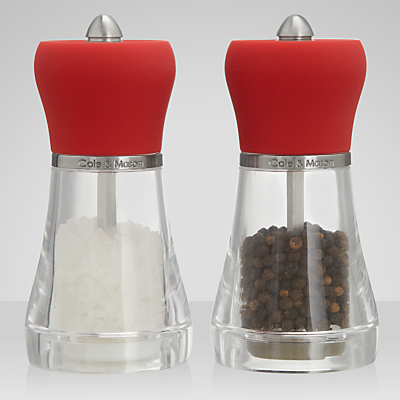 Cole & Mason Red Napoli Salt and Pepper Mills Set