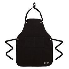 Buy John Lewis Cooks Collection Apron, Black Online at johnlewis.com