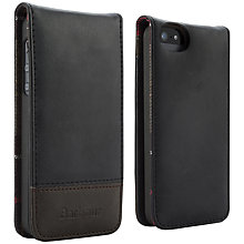 Buy Barbour Leather Flip Case for iPhone 5, Black Online at johnlewis.com