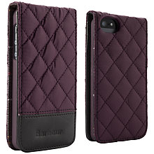 Buy Barbour Quilted Flip Case for iPhone 5, Grape Online at johnlewis.com