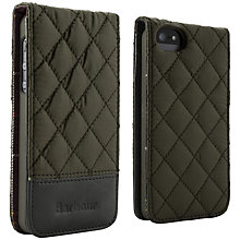 Buy Barbour Quilted Flip Case for iPhone 5, Olive Online at johnlewis.com