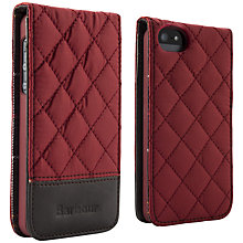 Buy Barbour Quilted Flip Case for iPhone 5, Terracotta Online at johnlewis.com