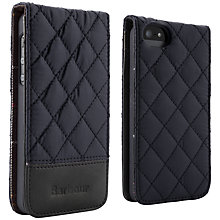 Buy Barbour Quilted Flip Case for iPhone 5, Navy Online at johnlewis.com