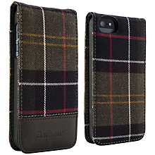 Buy Barbour Tartan Cotton Flip Case for iPhone 5 Online at johnlewis.com
