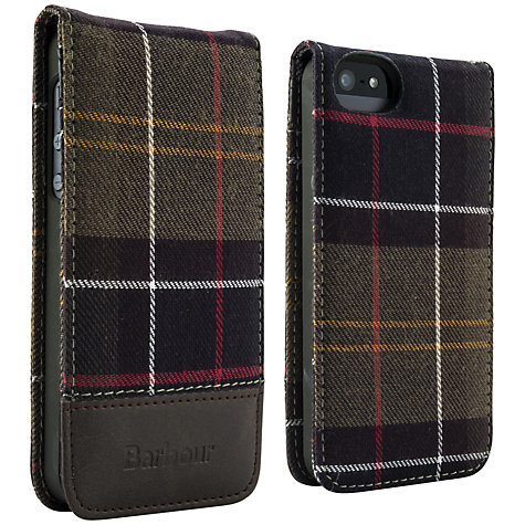 Buy Barbour Tartan Cotton Flip Case for iPhone 5 & 5s Online at johnlewis.com