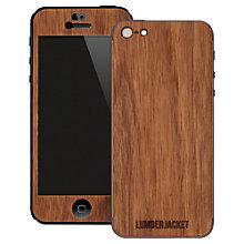 Buy Lumberjacket, Wooden Skin for iPhone 5, Walnut Online at johnlewis.com