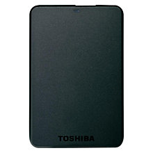 "Buy Toshiba Basic 2.5"", Portable Hard Drive, 750GB, Black Online at johnlewis.com"