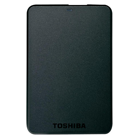 "Buy Toshiba Stor.E Basics 2.5"" Portable Hard Drive, 2TB, Black Online at johnlewis.com"