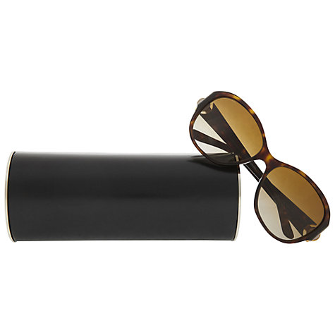 Buy Bvlgari BV6064B Oversized Jewelled Balm Polarised Sunglasses, Tortoise Online at johnlewis.com