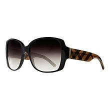 Buy Burberry BE4105 Square Check Arm Pattern Sunglasses Online at johnlewis.com