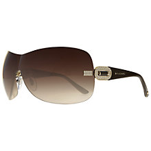 Buy Bvlgari BV6054BM Wraparound Sunglasses, Gold Online at johnlewis.com