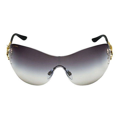 Buy Bvlgari BV8104 Starlight Square Sunglasses, Pale Gold Online at johnlewis.com