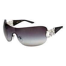 Buy Bvlgari Ladies BV6063B Brilliant Cut Square Sunglasses, Silver Online at johnlewis.com