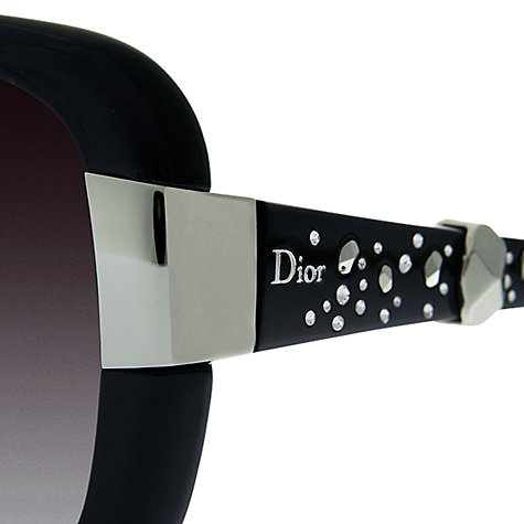 Buy Christian Dior Ladies Dior Midnight Diamanté Sunglasses, Black Online at johnlewis.com