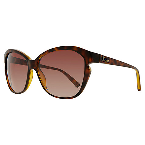 Buy Christian Dior Simply Dior Side Cut Out Sunglasses, Tortoiseshell Online at johnlewis.com