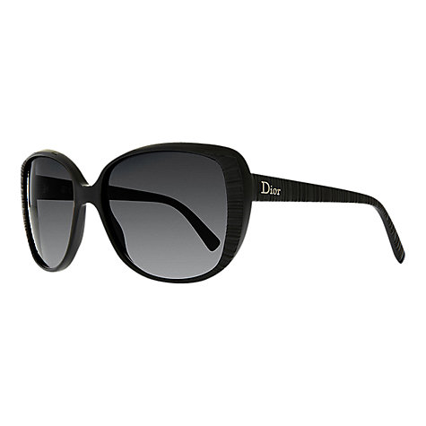 Buy Christian Dior Taffetas Rim Oversized Square Catseye Sunglasses, Black Online at johnlewis.com