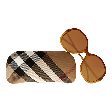 Buy Burberry BE4126 Round Gradient Frame Sunglasses Online at johnlewis.com