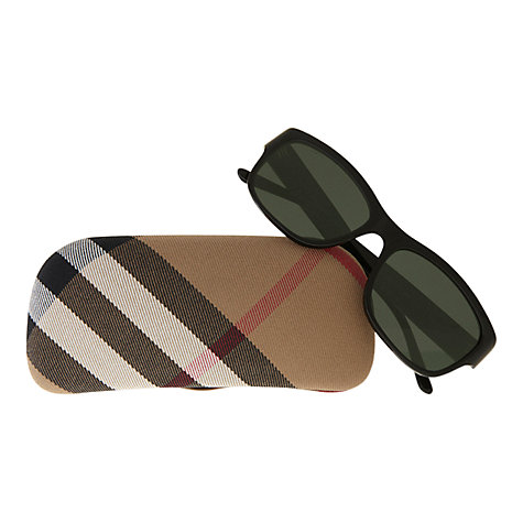Buy Burberry BE4134 Square Checked Hinge Sunglasses Online at johnlewis.com