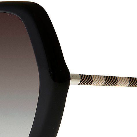 Buy Burberry BE4122 Butterly Sunglasses, Black Online at johnlewis.com