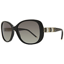 Buy Bvlgari BV8114 Seprenti Oval Sunglasses, Black Online at johnlewis.com