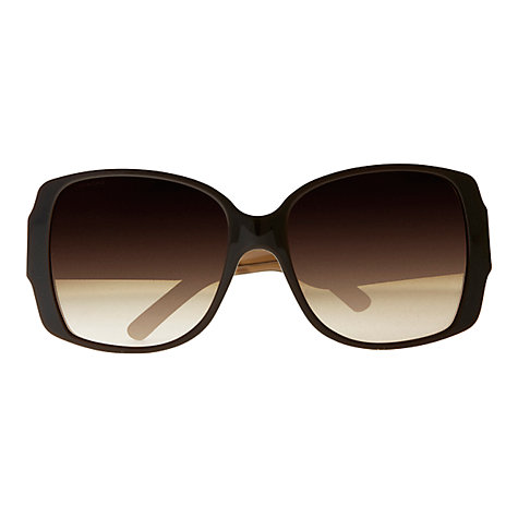 Buy Burberry BE4105 Square Check Arm Pattern Sunglasses, Brown Online at johnlewis.com