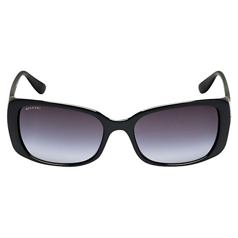 Buy Bvlgari BV8099B Ventaglio Rectangular Sunglasses, Black Online at johnlewis.com