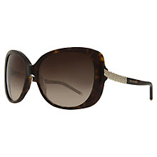 Buy Bvlgari BV8105B Square Sunglasses, Tortoise Online at johnlewis.com