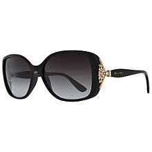 Buy Bvlgari BV8113B Square Sunglasses, Black Online at johnlewis.com