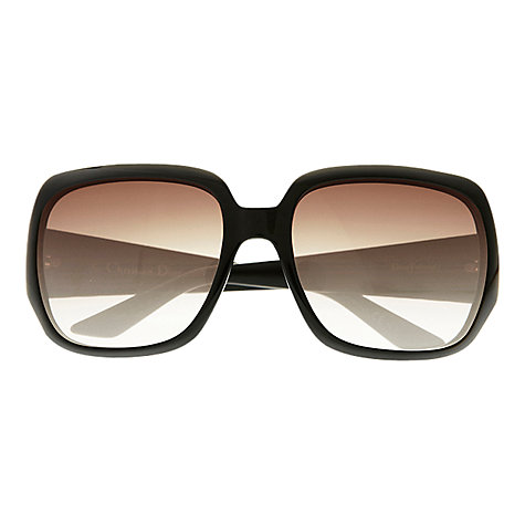 Buy Christian Dior Ladies Dior Frisson 1 Sunglasses, Shiny Black Online at johnlewis.com