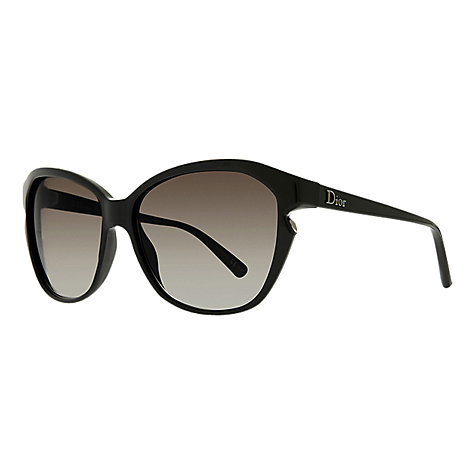 Buy Christian Dior Simply Dior Sunglasses, Shiny Black Online at johnlewis.com