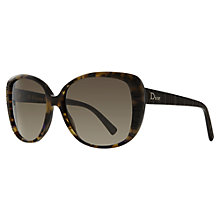 Buy Christian Dior Diortaffetas Oversized Cat's Eye Sunglasses, Tortoise Online at johnlewis.com