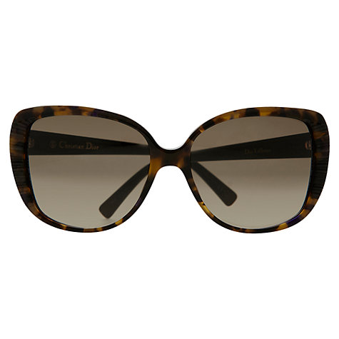 Buy Christian Dior Diortaffetas Oversized Cats Eye Sunglasses, Tortoiseshell Online at johnlewis.com