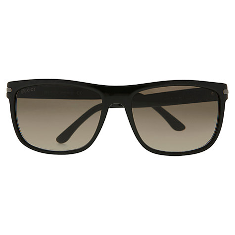 Buy Gucci GG1027/S Acetate Framed Sunglasses, Black Online at johnlewis.com