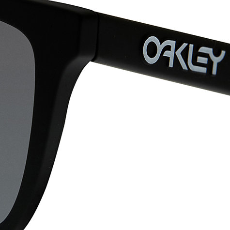 Buy Oakley 009013 Frogskins Polarised Square Sunglasses, Black Online at johnlewis.com
