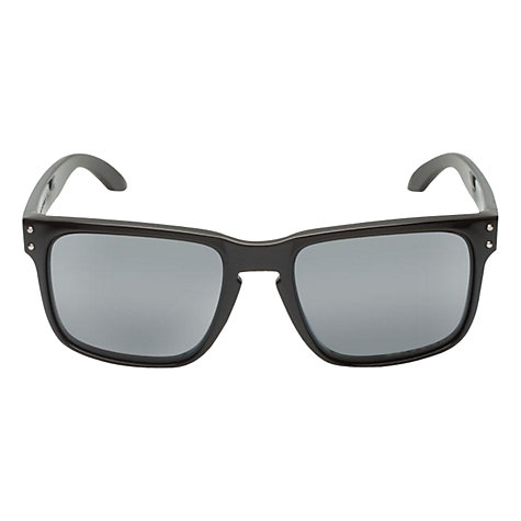 Buy Oakley OO9102 Holbrook Signature Square Sunglasses, Black Online at johnlewis.com