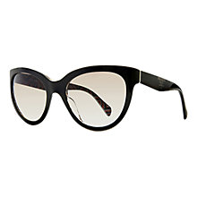 Buy Prada PR05PS Classic Logo Phantos Sunglasses, Black Top/Roll Online at johnlewis.com