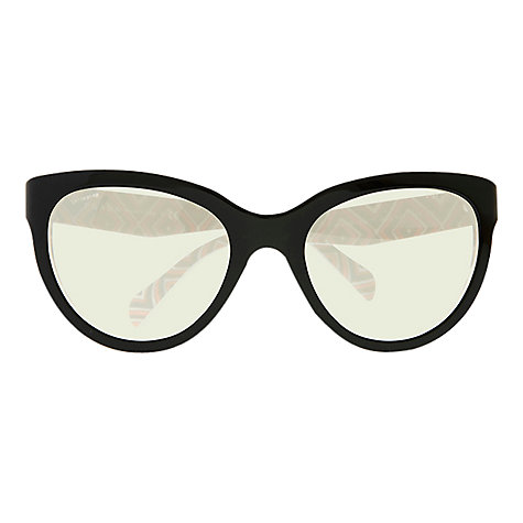 Buy Prada PR05PS Classic Logo Phantos Sunglasses, Black Online at johnlewis.com
