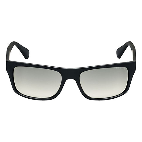 Buy Prada Linea Rossa PR18PS Rectangular Acetate Sunglasses, Black Online at johnlewis.com