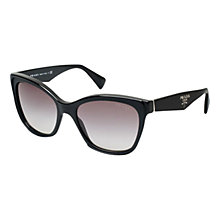 Buy Prada PR20PS Classic Logo Square Sunglasses, Black Online at johnlewis.com