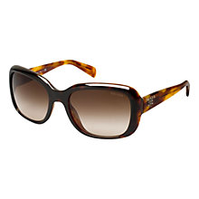Buy Prada PR17PS Classic Logo Square Sunglasses Online at johnlewis.com
