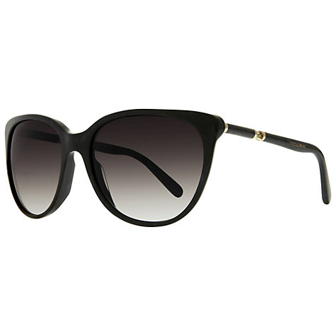 Buy Dolce & Gabbana DG4156 Round Sunglasses, Black Online at johnlewis.com