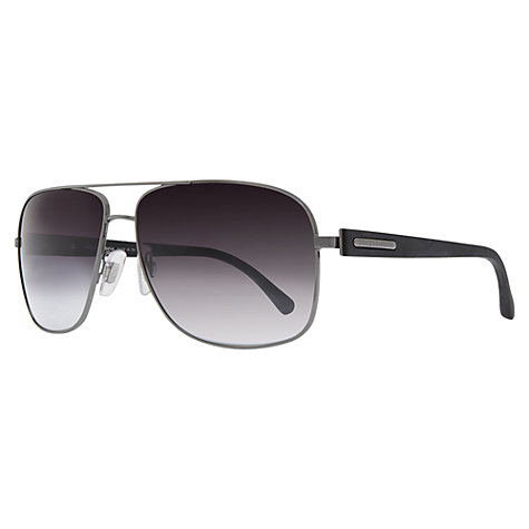 Buy Dolce & Gabbana DG2122 Square Sunglasses, Gun Metal Online at johnlewis.com