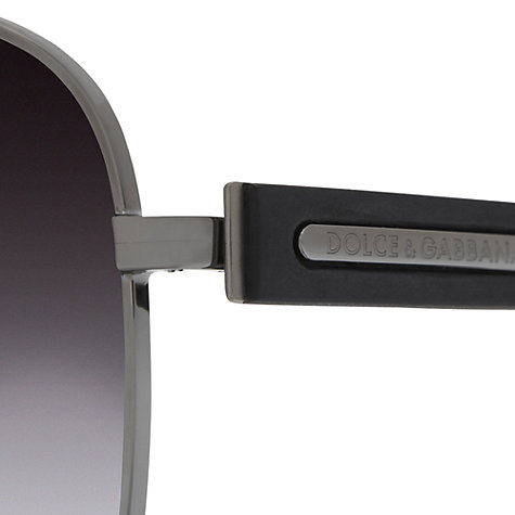 Buy Dolce & Gabbana DG2122 Square Sunglasses, Gunmetal Online at johnlewis.com