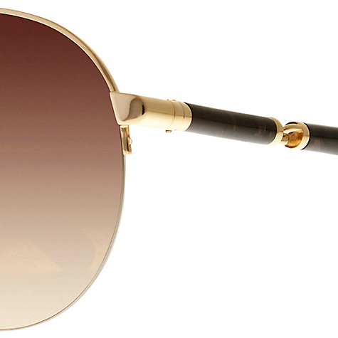 Buy Dolce & Gabbana 0DG2115 Aviator Sunglasses, Gold Online at johnlewis.com